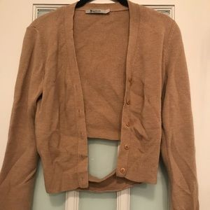 T by Alexander Wang Wool Cropped Cardigan